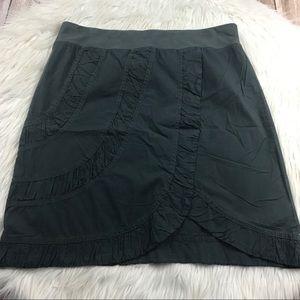 NWT XCVI Catalina dark grey cotton skirt sz large